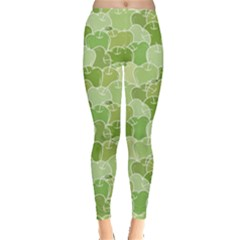 Green Ripe Green Apples Pattern Women s Leggings