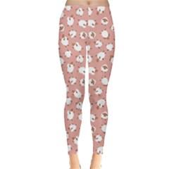Pink Sheep Pattern Women s Leggings