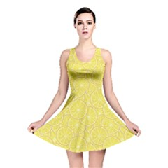 Green Lemon Slice Reversible Skater Dress