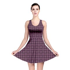 Purple Pattern with Bats and Bones Reversible Skater Dress