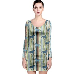 Colorful Horse Pattern Pattern for Webdesign Textile Long Sleeve Bodycon Dress