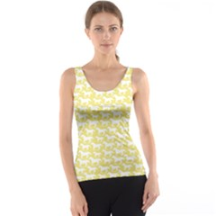 Yellow Pattern With Stylized Horses Tank Top