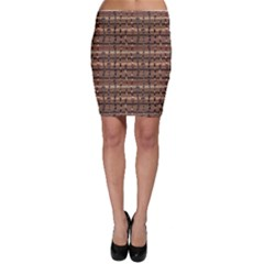 Brown Snakes Pattern Bodycon Skirt