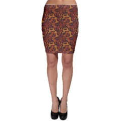 Brown Pattern Bone for A Dog Bodycon Skirt