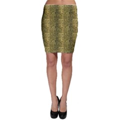 Green Leather Animal Snake Reptile Crocodile Pattern Bodycon Skirt