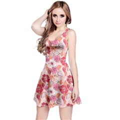 Pink Flower Floral Pattern Texture Art Reversible Sleeveless Dress