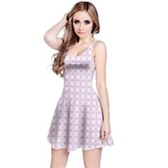 Purple Dots Pattern Reversible Sleeveless Dress