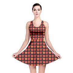 Orange Pattern Apples Reversible Skater Dress