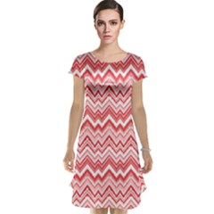 Pink Ethnic Pattern in Retro Colors Cap Sleeve Nightdress