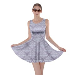 Purple Damask Pattern for Design Skater Dress