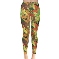 Colorful Pattern Butterflies Colors Autumn Leggings