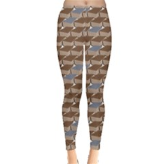Brown Old Book Pattern Brown And Grey Books Leggings