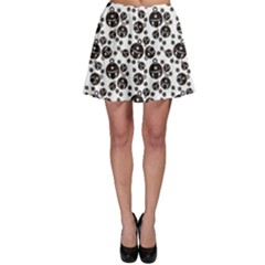 Black Jingle Bell Pattern Skater Skirt