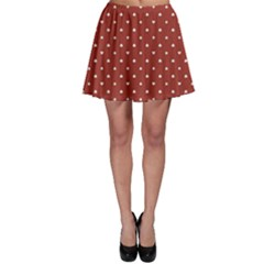 Red Poker Pattern Red Made Card Suits Skater Skirt