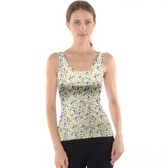 Colorful Abstract Pattern With Floral Tank Top