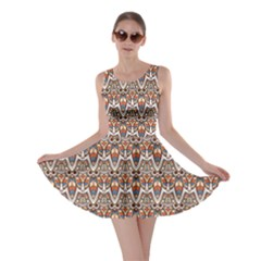 Colorful Indian Ornament Pattern Skater Dress
