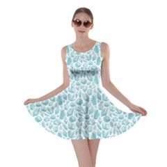 Blue Pattern With Various Crystals Shapes Skater Dress