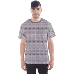 Gray Abstract Geometric Pattern In Black And White Men s Sport Mesh Tee