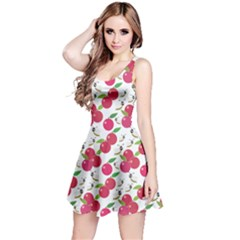 Red Simple Pink Apples Sleeveless Dress