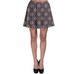Blue Knitted Sweater Design Pattern Skater Skirt