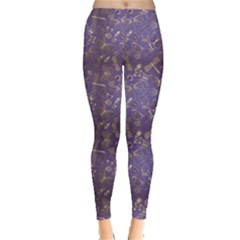 Blue Pattern With Stylized Insects Leggings