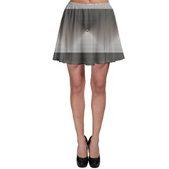 Gray Grayscale Black And White Squares With Skater Dress