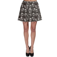 Black Skull in A Military Helmet Skater Dress