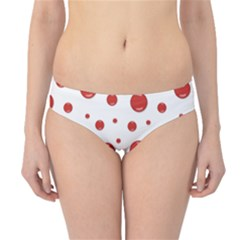 Red With Blood Drops Hipster Bikini Bottom