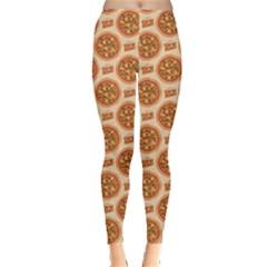Yellow Pizza Pattern Stylish Design Leggings