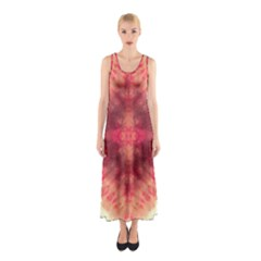 Pink Tie Dye 2 Sleeveless Maxi Dress