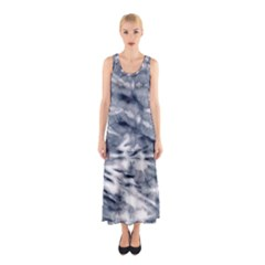 White Tie Dye 3 Sleeveless Maxi Dress