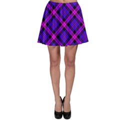 Magenta Plaid Skater Skirt