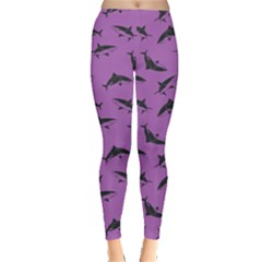 Violet Shark Leggings