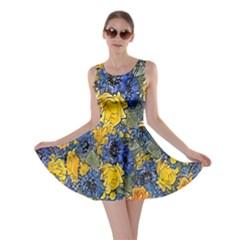 Floral Pattern Background Skater Dress