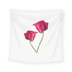 Red Roses Photo Square Tapestry (small)