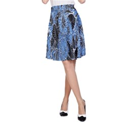 Floral Pattern Background Seamless A-Line Skirt