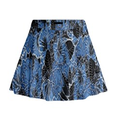 Floral Pattern Background Seamless Mini Flare Skirt