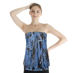 Floral Pattern Background Seamless Strapless Top