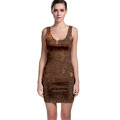 Brown Sequins Background Sleeveless Bodycon Dress