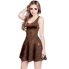 Brown Sequins Background Reversible Sleeveless Dress