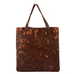 Brown Sequins Background Grocery Tote Bag