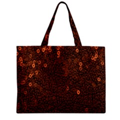 Brown Sequins Background Mini Tote Bag