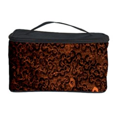 Brown Sequins Background Cosmetic Storage Case