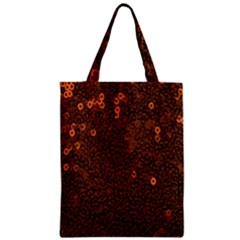 Brown Sequins Background Zipper Classic Tote Bag