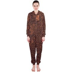 Brown Sequins Background Hooded Jumpsuit (Ladies)