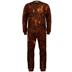 Brown Sequins Background OnePiece Jumpsuit (Men)