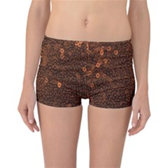 Brown Sequins Background Reversible Bikini Bottoms