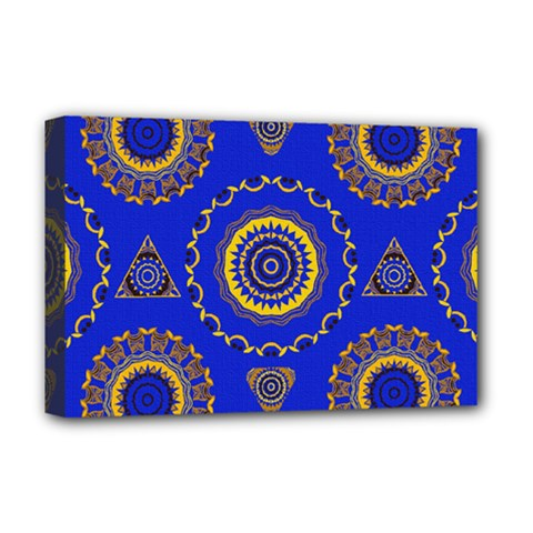 Abstract Mandala Seamless Pattern Deluxe Canvas 18  x 12