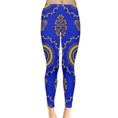 Abstract Mandala Seamless Pattern Leggings