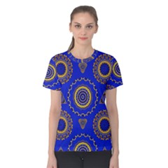 Abstract Mandala Seamless Pattern Women s Cotton Tee